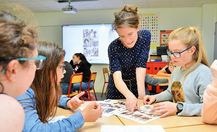 La dessinatrice Laëtitia Rouxel a aidé les collégiens de Louis-Guilloux à concevoir une BD. © Franck Hamon