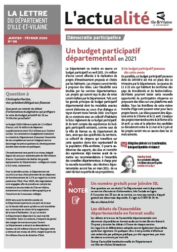 couverture La lettre du Département d'Ille-et-Vilaine 118