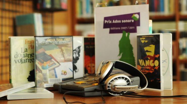 La lecture publique : des livres, des audio-livres, etc.
