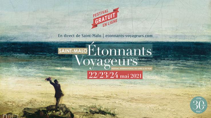Affiche du festival Etonnants Voyageurs