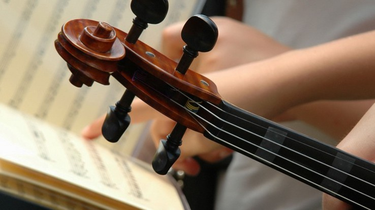violon et partition, école de musique