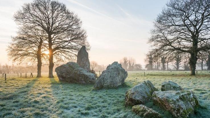 mégalithes de Lampouy, Médréac, lever de soleil