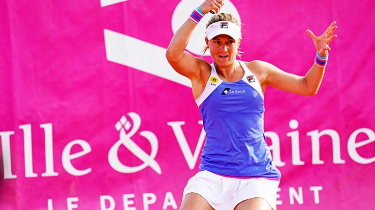 Nadia Podoroska, gagnante de l'Open 35 de Saint-Malo 2020