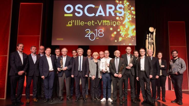 Les lauréats des Oscars 2018 et les partenaires de l'évènement ©Thomas Crabot
