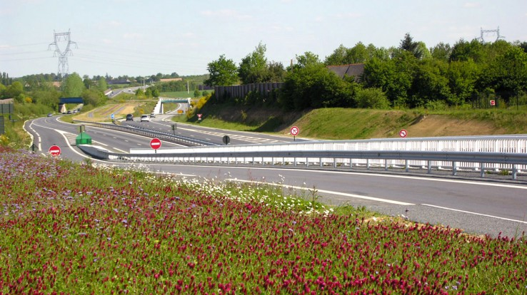 Aménagement de la 2X2 voies Bretagne-Anjou, ici entre Corps-Nuds et Janzé