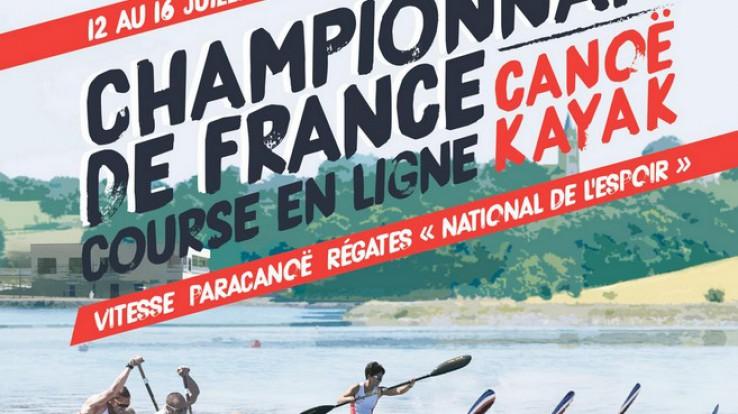 Affiche championnat de France de canoë-kayac