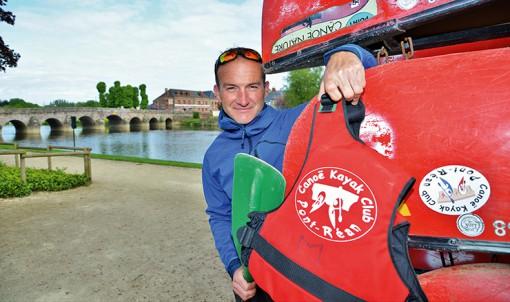 Mickaël Le Solliec, entraîneur du canoë-kayak club de Pont-Réan. © Franck Hamon