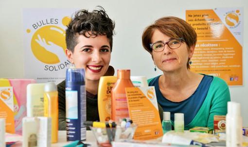 Laure-Anna Galeandro-Diamant et Frédérique Diamant, respectivement présidente et secrétaire de l'association Bulles solidaires. © Franck Harmon