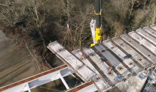 Saint-Médard-sur-Ille : le chantier du viaduc prend fin