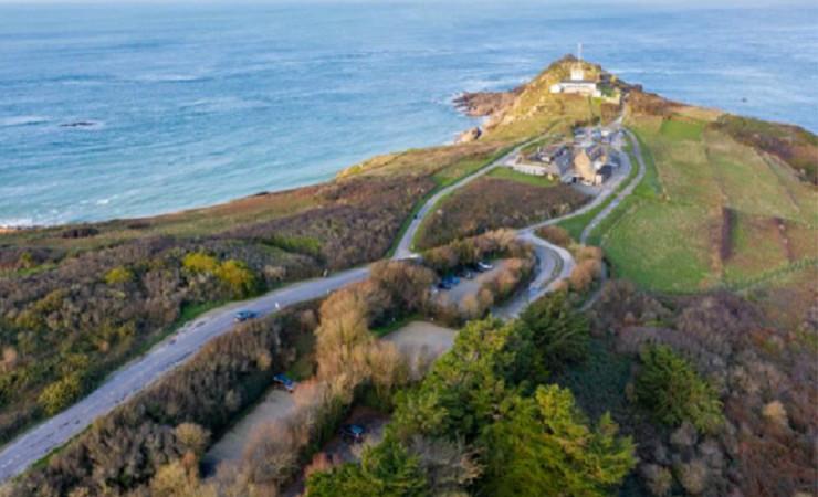 Vue aérienne Pointe du Grouin Ille et Vilaine