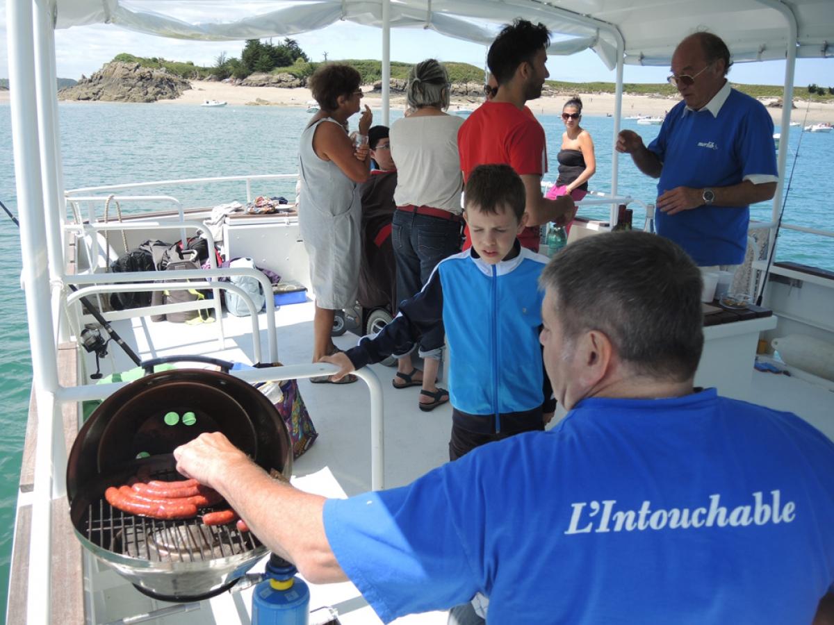 Une journ e en mer sur l intouchable avec merlib for Cuisinier bateau