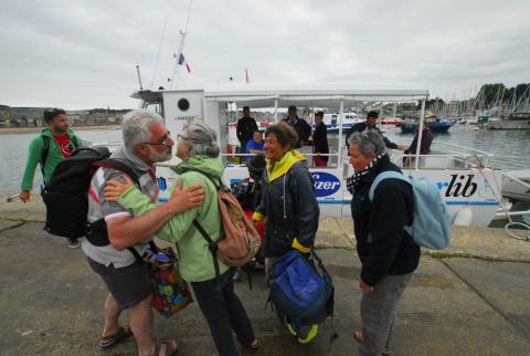 Encore une journée réussie pour l'association Dinard Handicap Nautisme. Luc prévoit une soixantaine de sorties cette année.