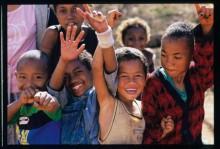 Groupe d'enfants à Madagascar