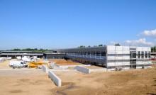 Vue d'un chantier de construction de collège