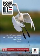 Couverture magazine Nous Vous Ille, envol héron