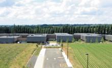 Vue de BioAgroPolis, la cité des biotechnologies à Javené