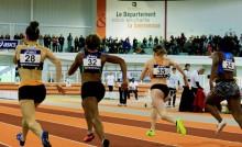 sprint féminin au stade Robert Poirier