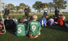 Foot, jeunes à l'entrainement