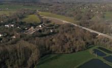 Vue aérienne du viaduc de saint médard sur ille