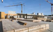 Vue du chantier collège melesse septembre 2021